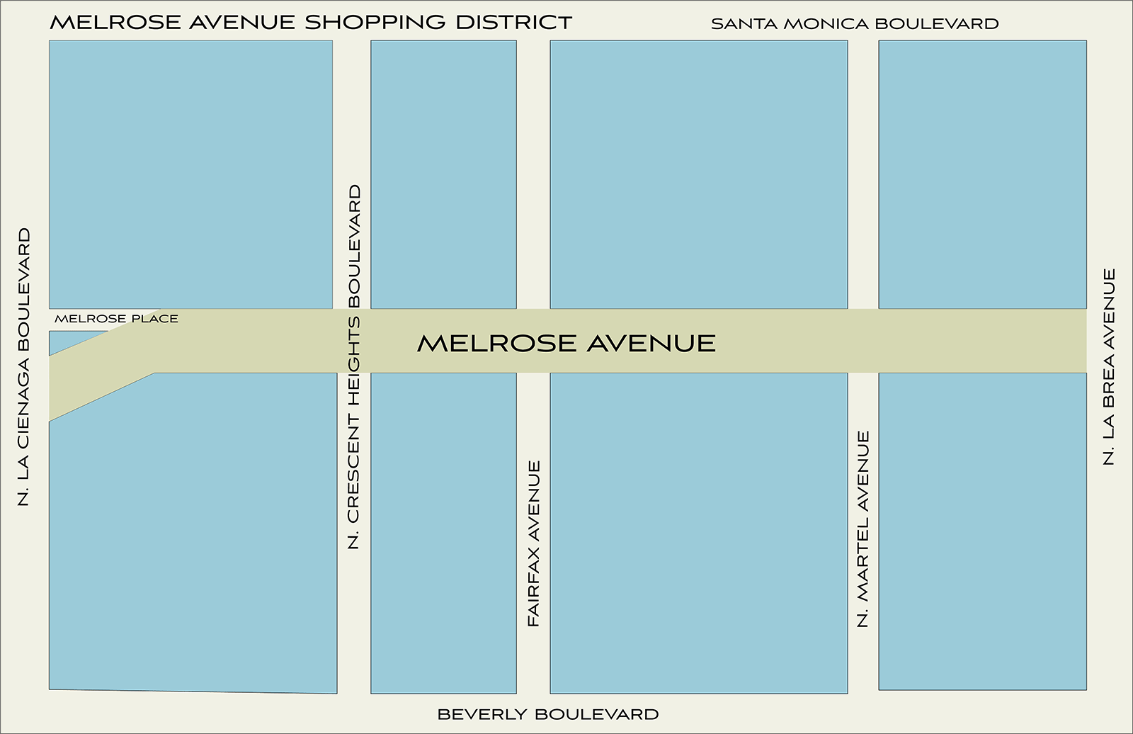 melrose avenue map